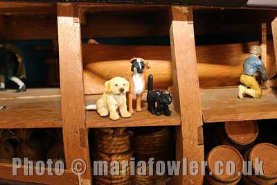 The Mayflower dogs and cats come together to listen to the stories of the sea shore and mouse adventures