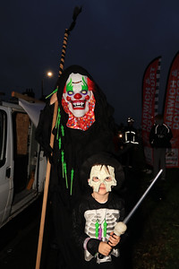 26 OCT 2019 – PICTURED: Kelly Messenger and James Messenger (Age 7, Chase Lane Primary School) - Harwich Guy Carnival 2019 – Photo Copyright © Maria Fowler 2019