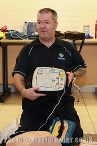 16 NOV 2018 – Pictured Tony Johnson (TJ Training) - Harwich Town Council's Free Defibrillator Training event  at the 1912 Centre – Harwich – Photo © Maria Fowler 2018