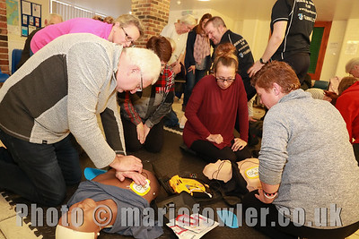 16 NOV 2018 – Harwich Town Council's Free Defibrillator Training event  at the 1912 Centre – Harwich – Photo © Maria Fowler 2018
