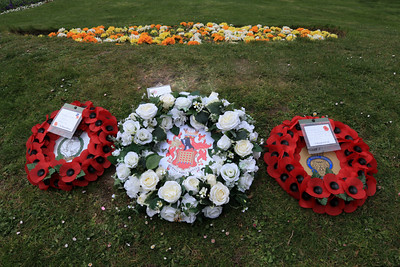 10 APR 2021 - Wreaths laid at the Mayor's Garden in memory of His Royal Highness the Prince Philip, Duke of Edinburgh. - Photo Copyright © Maria Fowler 2021