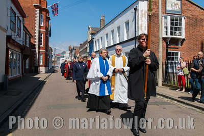 The procession from the Guildhall to St Nicholas' Church, Harwich.