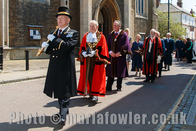 Procession from St.Nicholas' church to the Guildhall, Harwich.