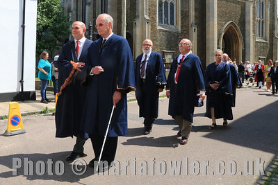 23 MAY 2019 – Pictured: Cllr. Geoff Smith, Cllr. Garry Calver, Cllr. David Smith, Cllr, Steve Richardson and Cllr. Margaret Saunders - Harwich Town Council, Mayor Making – Photo Copyright © Maria Fowler 2019