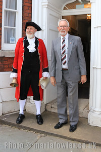 23 MAY 2019 – Pictured: Town Crier Richard Bench and Cllr. Dave McLeod - Harwich Town Council, Mayor Making – Photo Copyright © Maria Fowler 2019
