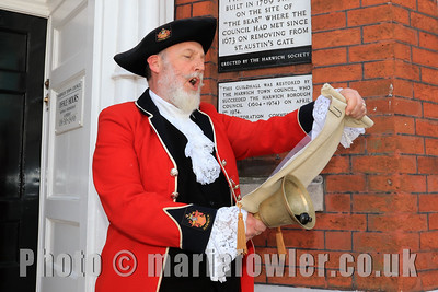 23 MAY 2019 – Pictured Town Crier, Richard Bench - Harwich Town Council, Mayor Making – Photo Copyright © Maria Fowler 2019