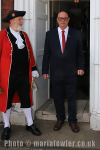 23 MAY 2019 – Pictured Town Crier, Richard Bench and Cllr. Bill Davidson - Harwich Town Council, Mayor Making – Photo Copyright © Maria Fowler 2019