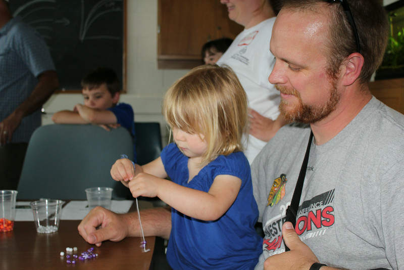 Jesse and daughter, Georgia, enjoy crafts at Open House