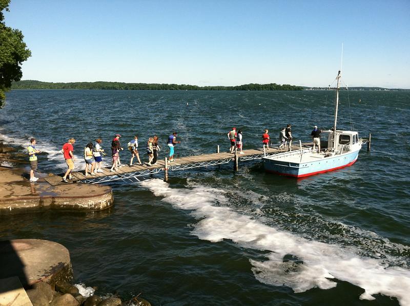 Limnos leaving Hasler Lab dock