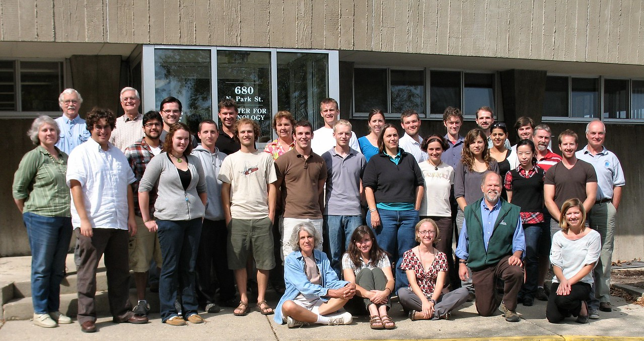 Group photo of Center for Limnology personnel based in the Hasler Lab, Madison WI.  Taken September 22, 2010.