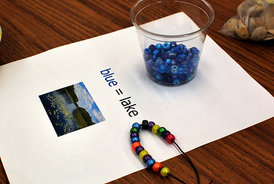 "Another popular station was the ""Kids' Crafts"" room, where visitors could make dragonflies and lake0themed bracelets."