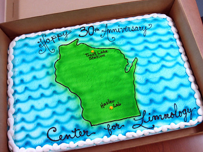 On June 22, 2012, the Center for Limnology celebrated its 30-year anniversary with cake and our first-ever public open house. More than 120 people visited throughout the afternoon to see what we get up to on the shores of Lake Mendota (Photos by: Grace Hong, Elizabeth Katt-Reinders and Adam Hinterthuer)