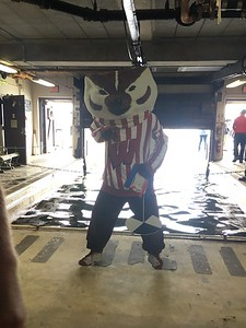 I know it looks like Bucky Badger, but it's really a cut-out from UW-DoIT.