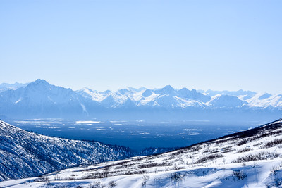 This is the Matanuska-Susitna Valley where I live. The expanse of the mountains is breathtaking.