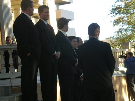 Waiting for the bridal party
