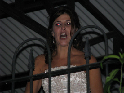 Laura- looking kind of scary after singing Bobby McGee with the band (She ROCKED)