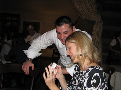 Mike helping Tiff at the Rehearsal dinner
