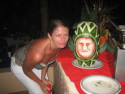 More watermelon carvings