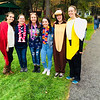 National Honor Society students, from left, Maggie Porter, Meghan Long, Gabriel Cruz, Cacey Corbett, Katie Holands and Shannon Curran