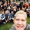 Dacey takes a selfie with and CHS National Honor Society students