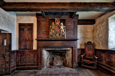 The Fireplace in the French Castle