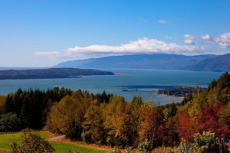 Isle-aux-Coudres on Baie-Sainte-Paul<br /> Saint Lawrence River, PQ