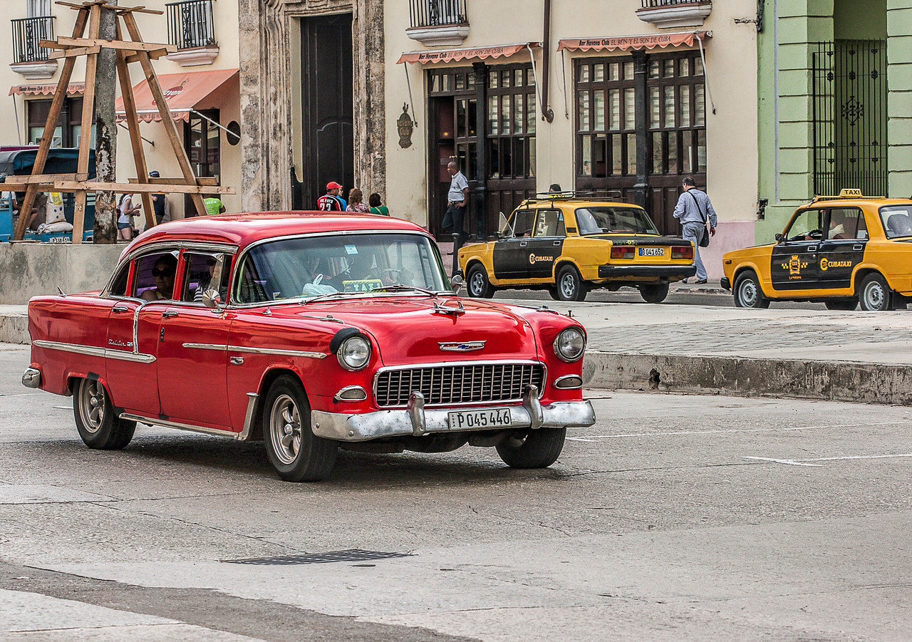 Old American Automobile in Havana
