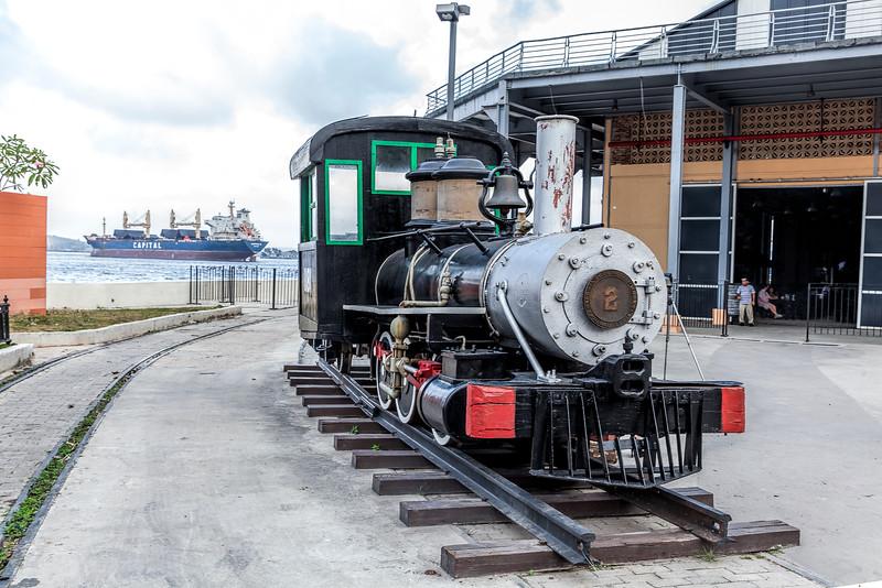 Historic American Steam Train & Oil Tanker in Havana