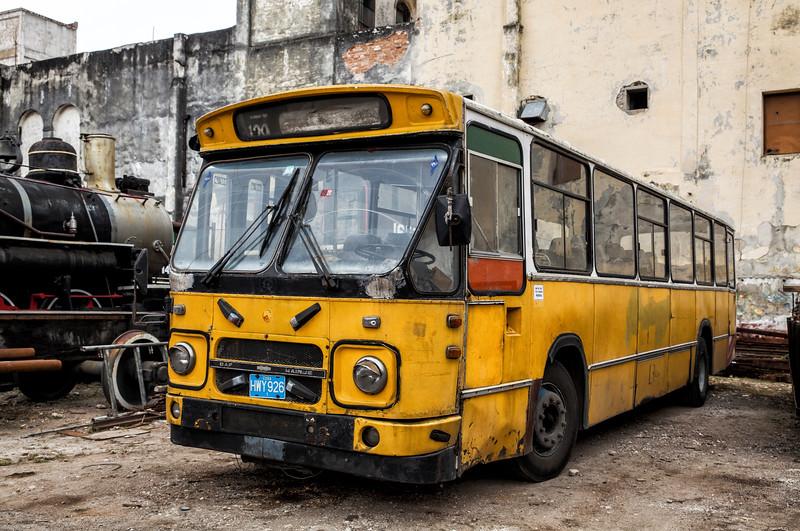 Old American Yellow School Bus in Havana Cuba