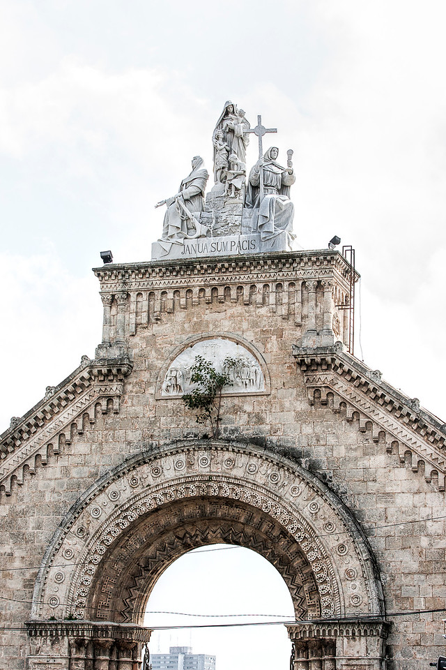Arch at Christopher Columbus Cemetery Havana