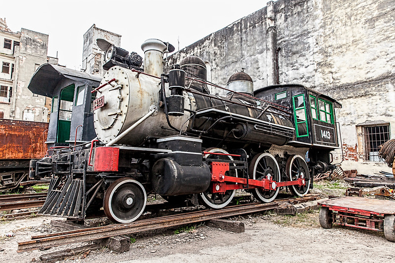 Historic American Steam Train in Havana, Cuba