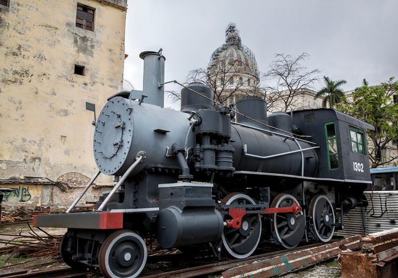 American Steam Train in Havana Cuba