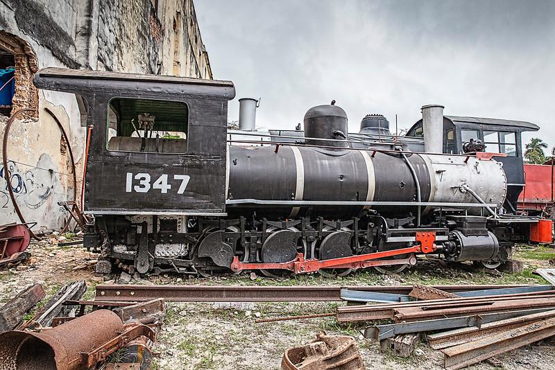 Historic American Steam Train in the heart of Havana, Cuba