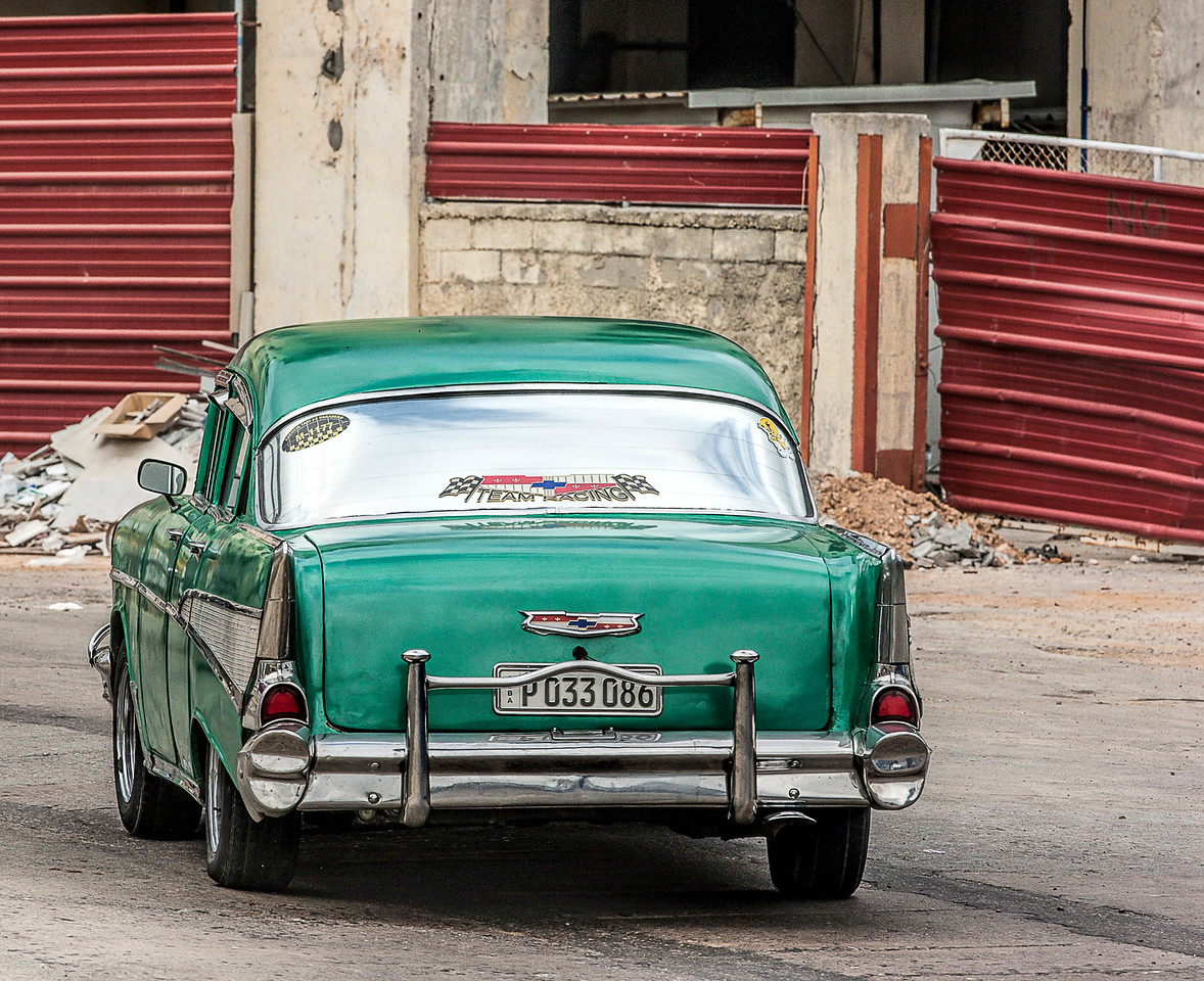 Green Chevvy Automobile in Havana
