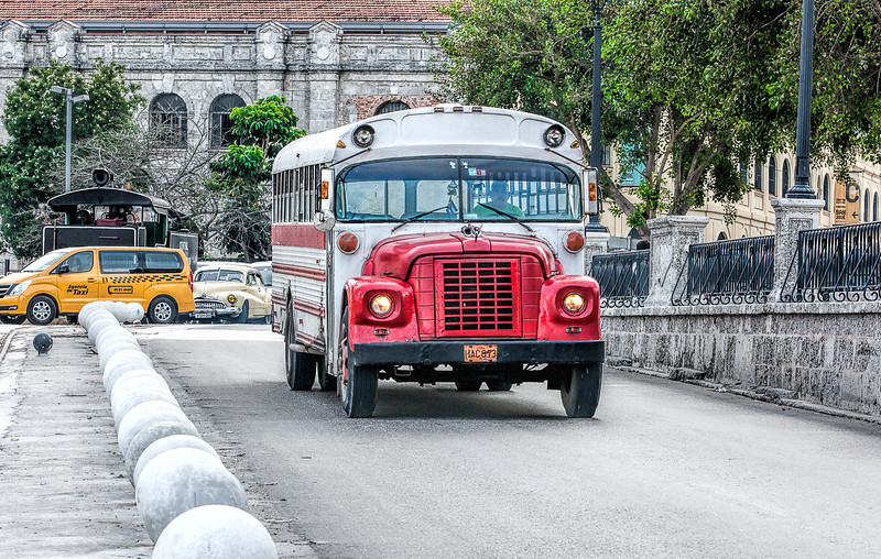 Historic Bus in Havana