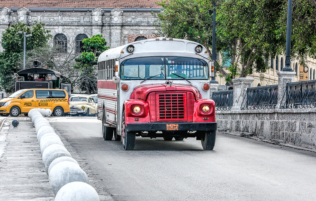 Historic Bus in Havana