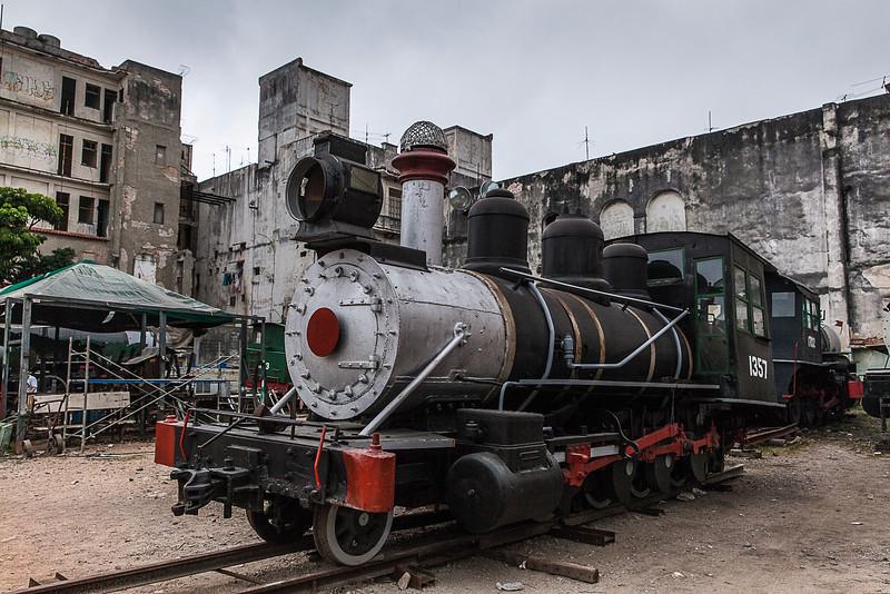 Historic American Steam Train in the Centre of Havana