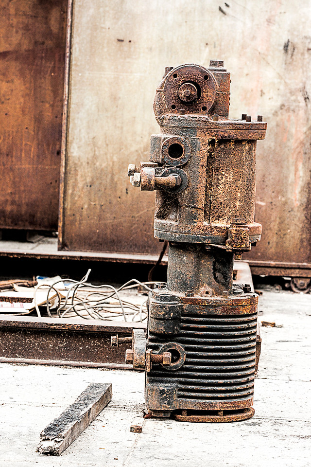 Old Rusty Rail Machinery
