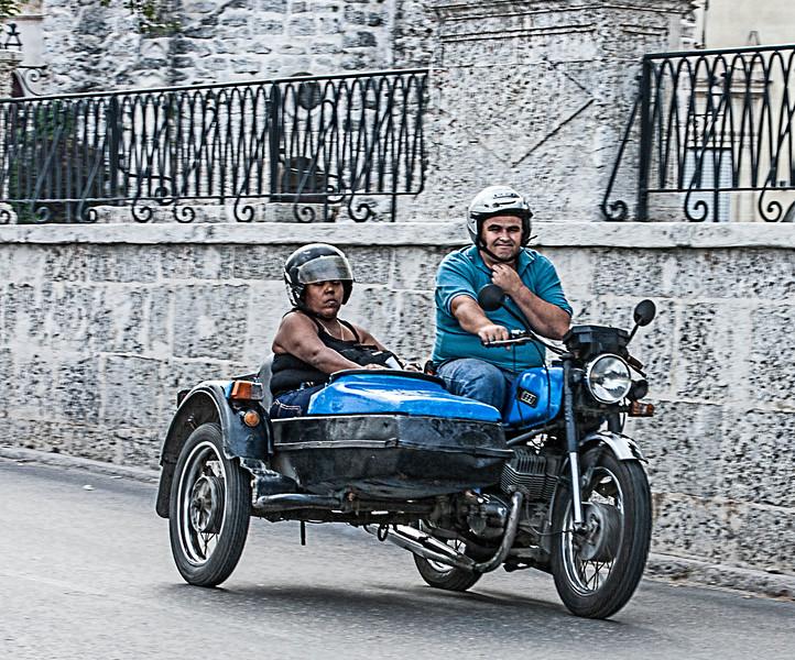 Historic motor bike in Havana