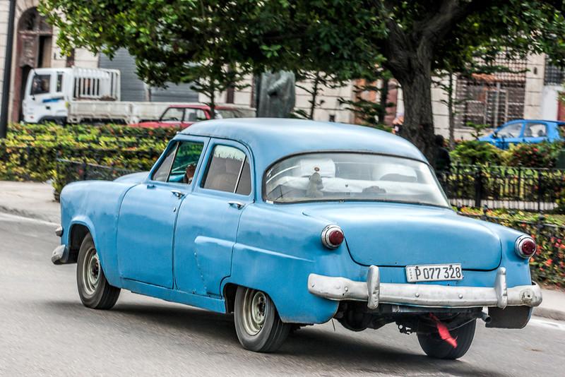 Historic Blue American Car