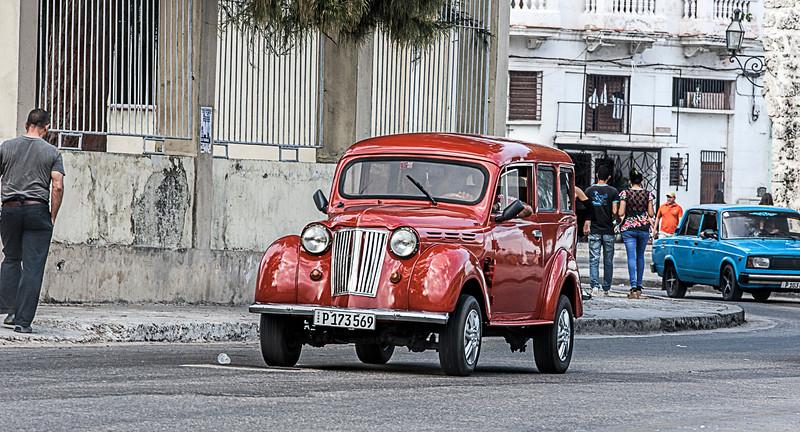 Havana Street Scene in Cuba