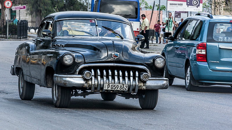 Old American Car in Havana