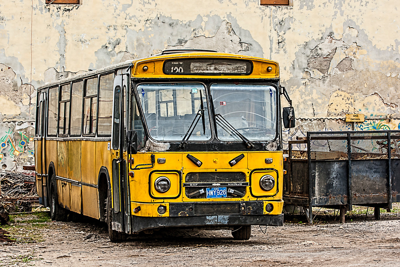 The Old American Yellow School Bus