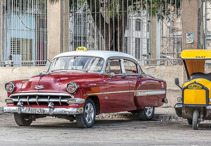 Historic Red American Car in Havana
