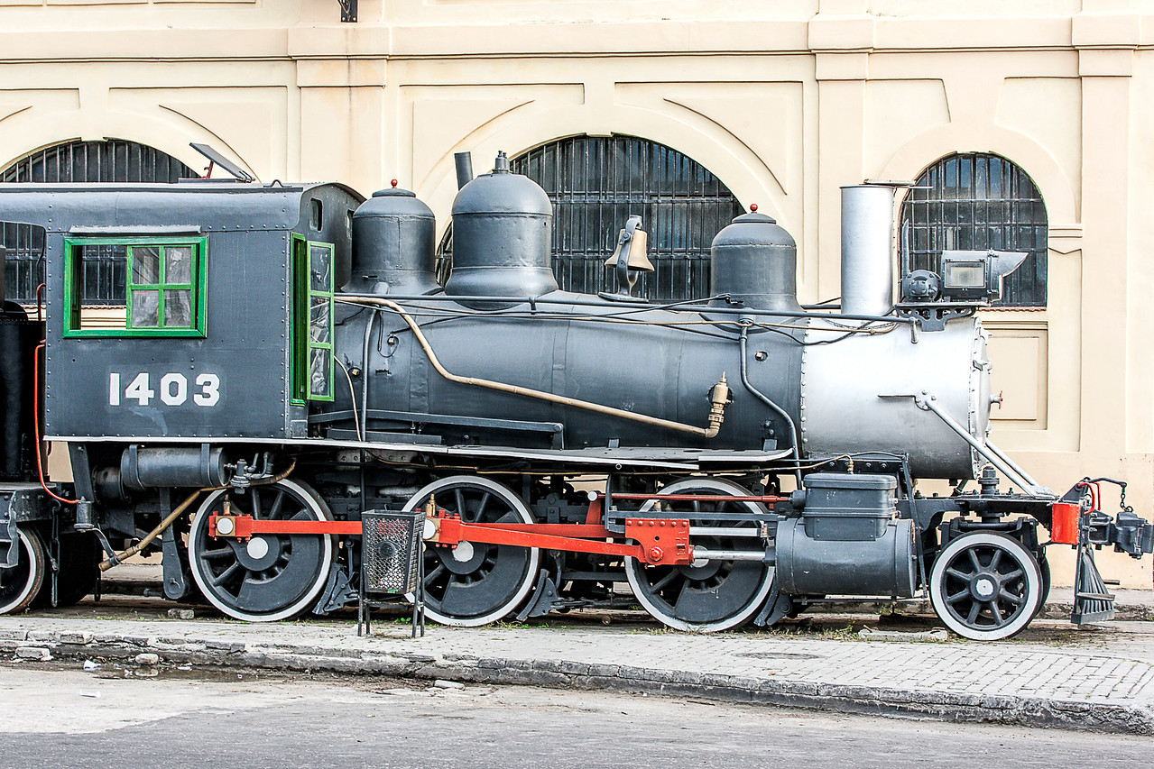 Historic American Steam Train in Havana