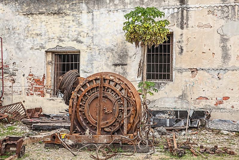 Rusty Railway Machinery in Havana, Cuba