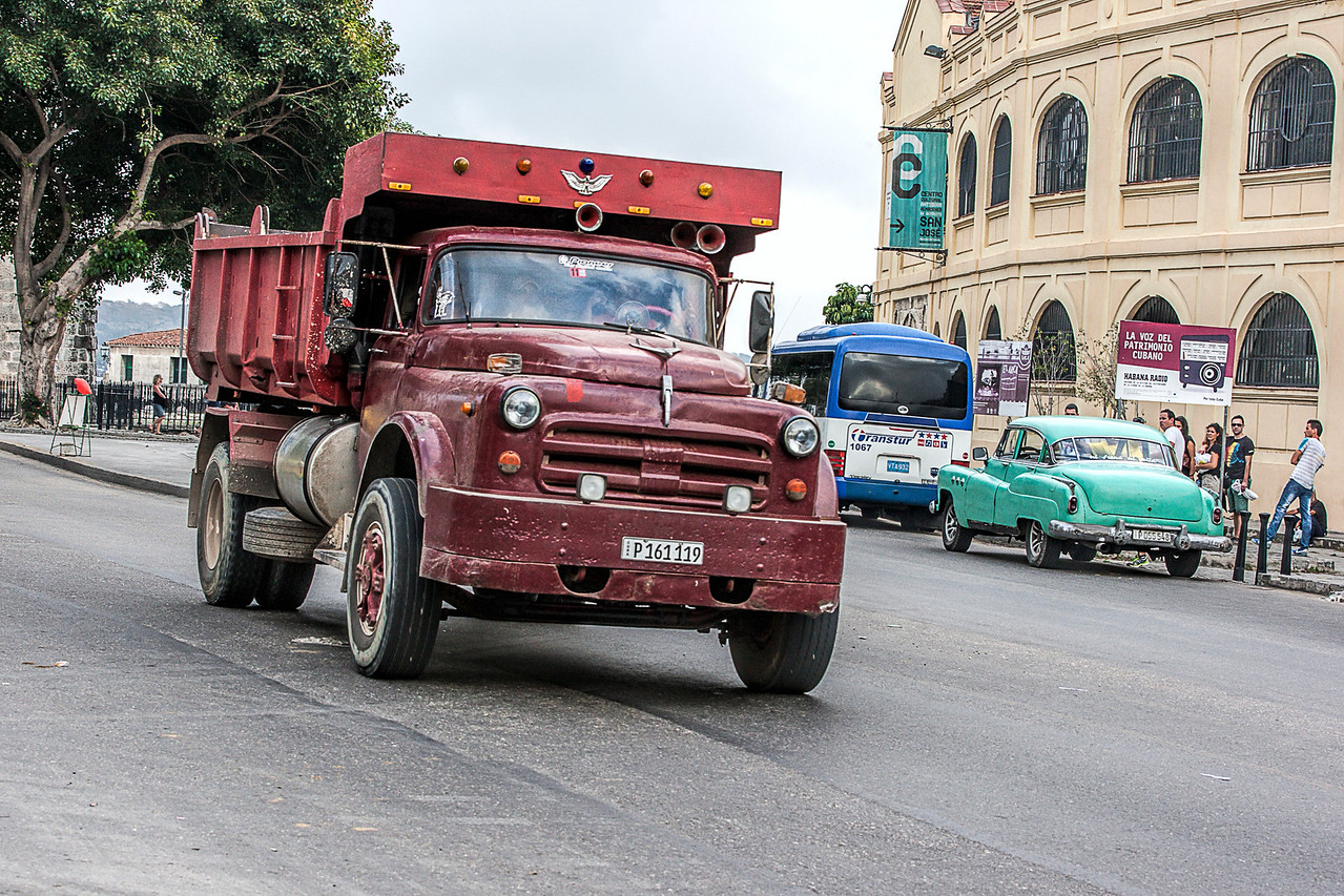 Old Red Truck in Havana
