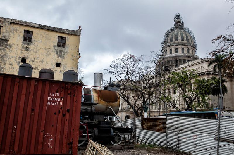 Railway Yard in the Centre of Havana