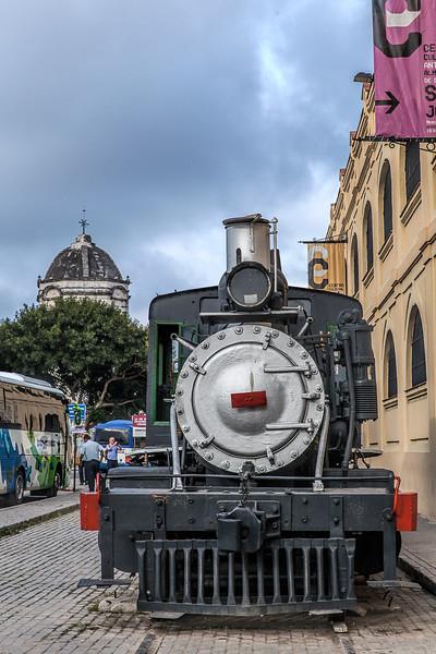 Historic US Steam Engine in Havana