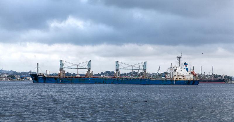 Oil Tanker in Havana Harbour, Cuba